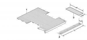 Fleetside Steel Bed Floor Components