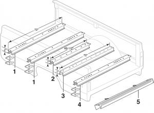 Fleetside Wood Bed Components
