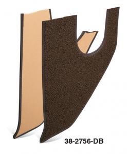 Dark Brown Kick Panel Carpet