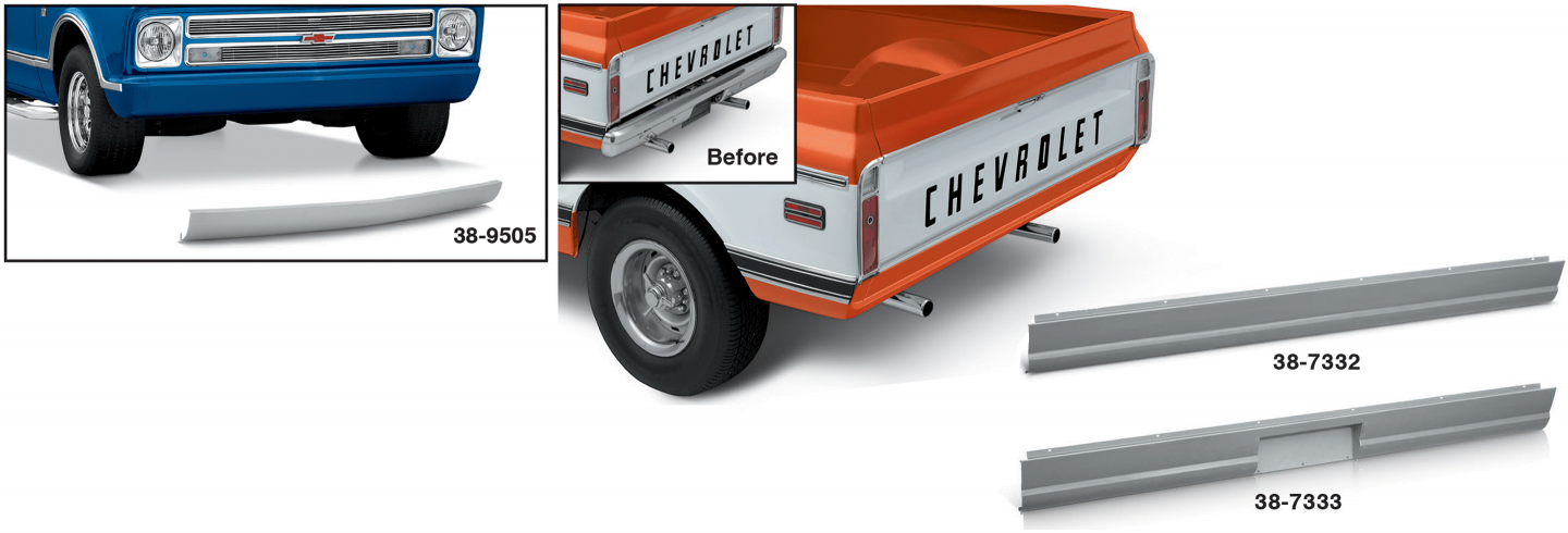 Front and Rear Roll Pans