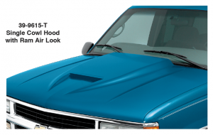 Cowl Induction Hood - Single with Ram Air Look