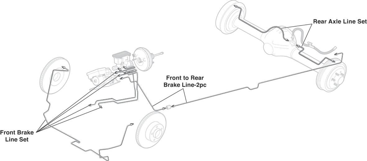 Pre Bent Stainless Steel Brake Lines