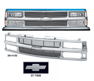 Preassembled All Chrome Grille with 4MM Billet for Chevrolet