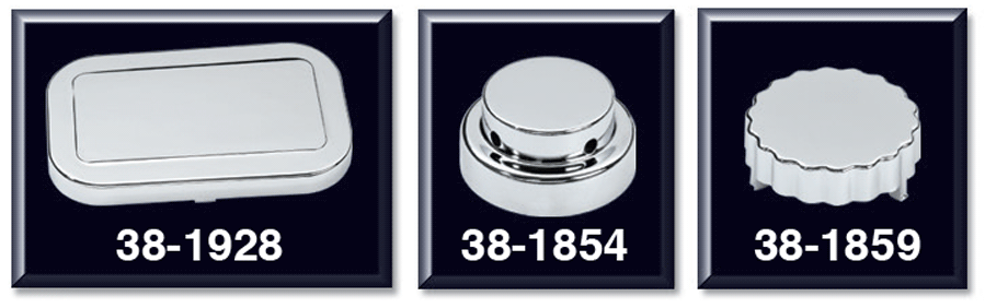 Chrome Master Cylinder Cover, Water Reservoir/Power Steering Caps