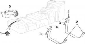 Gas Tank Components - 4 Door Models