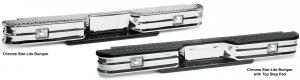 Chrome Rear Step Bumper-Star-Lite