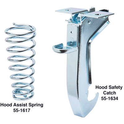 Hood Assist Spring and Hood Safety Catch