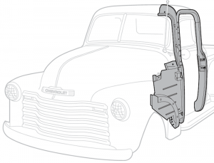1947-55 Outer Door Frame Assembly