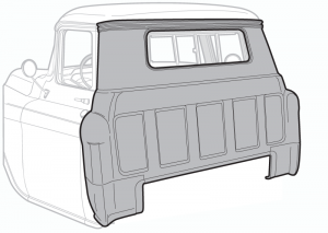 1955-59 Outer Cab Back Panel-Small