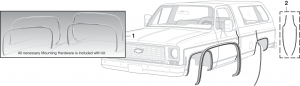 Wheel Arch Molding Kit and Door Edge Guard Set