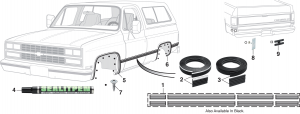 Wheel Arch Molding and Door Edge Guard Set