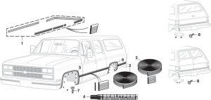 Pre-Cut Body Side Molding Set and Wheel Arch Molding