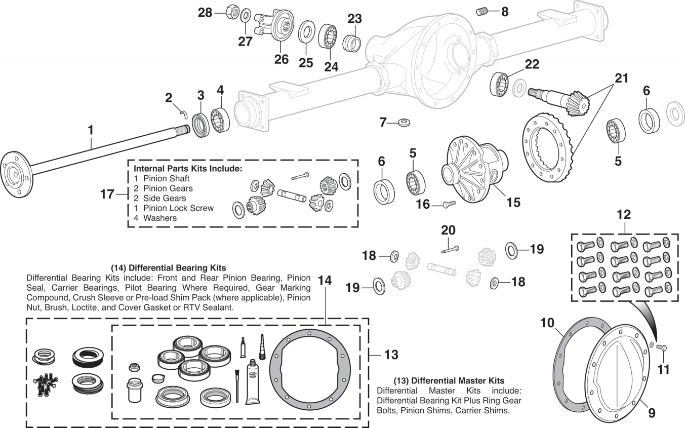 Rear Differential For Gm 10 Bolt With 8 1 2 Ring Gear