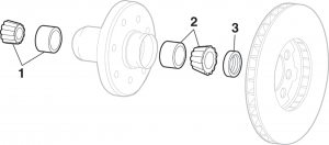 Front Wheel Bearings - 4 Wheel Drive