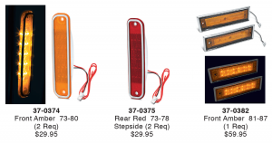 1973-87 LED Sidemarkers ... Long Lasting Style