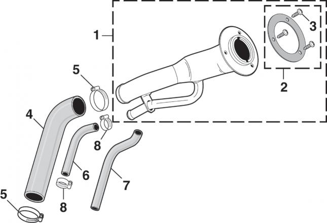 1973-78 Gas Tank Filler Door Components