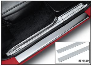 1973-87 Stainless Steel Front Threshold Plate Set - Plain