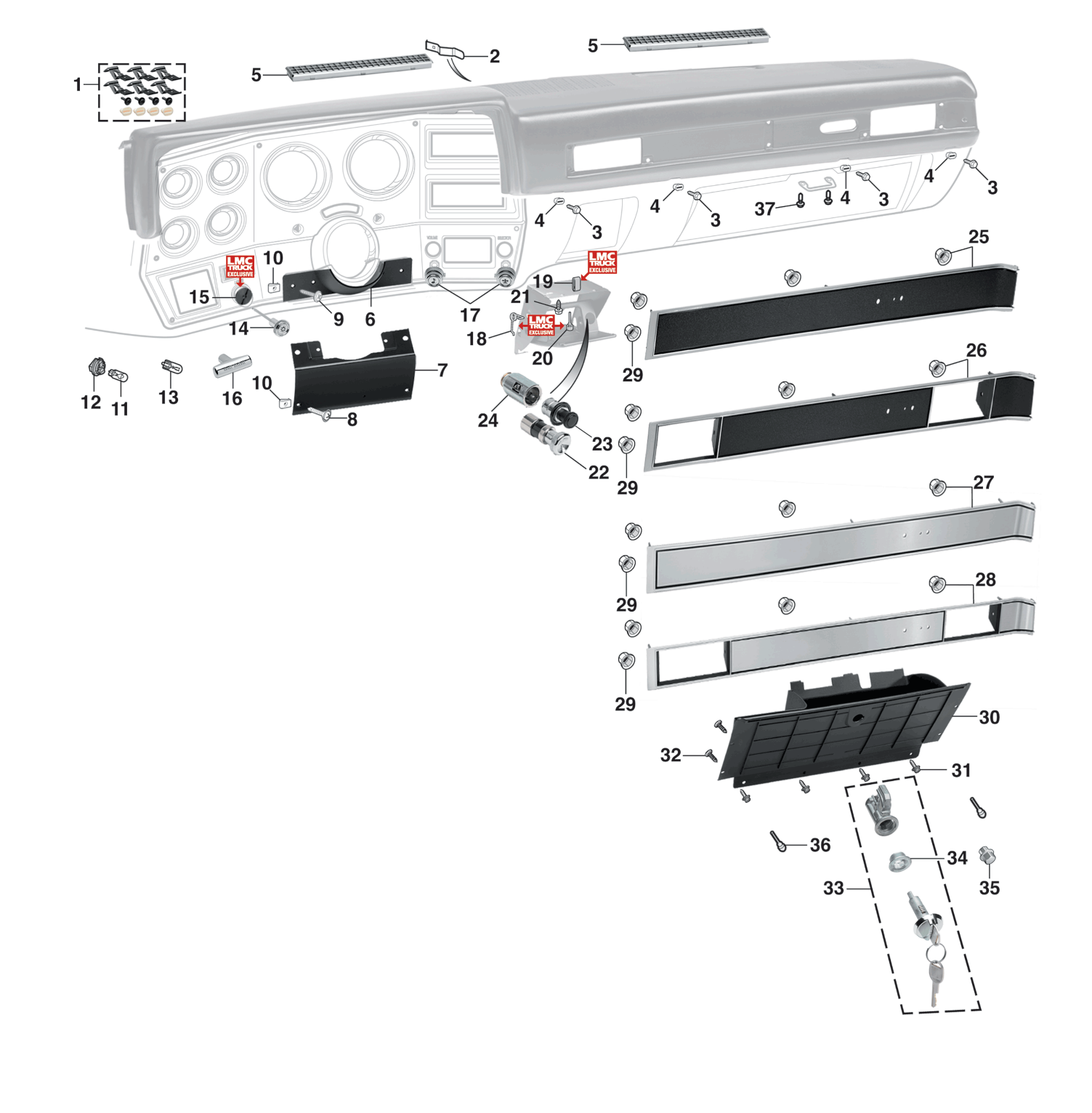 1981-89 Dashboard Components