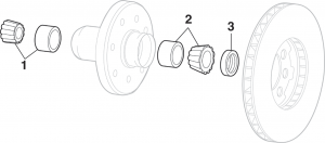 1973-87 Front Wheel Bearings - 4WD