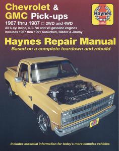 Haynes Repair Manual GM 67-87