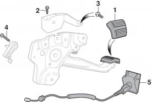 Parking Brake Pedal Components - 1st Design