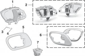 Side Rear Door Handles and Components