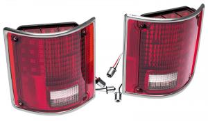 LED Tail Light Set with Trim