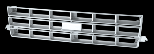 Repro Grille - Chrome and Silver