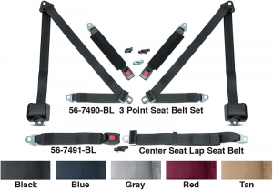 3 Point Retractable Seat Belt Set