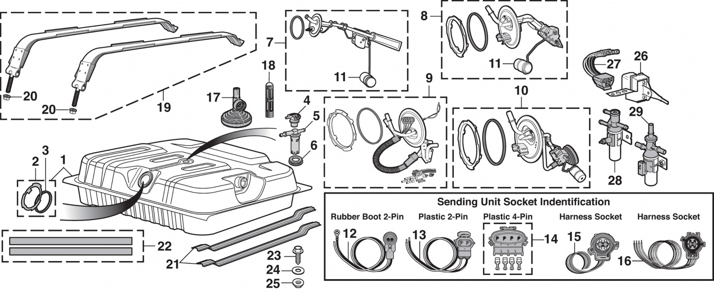 Rear Mount Gas Tank And Components
