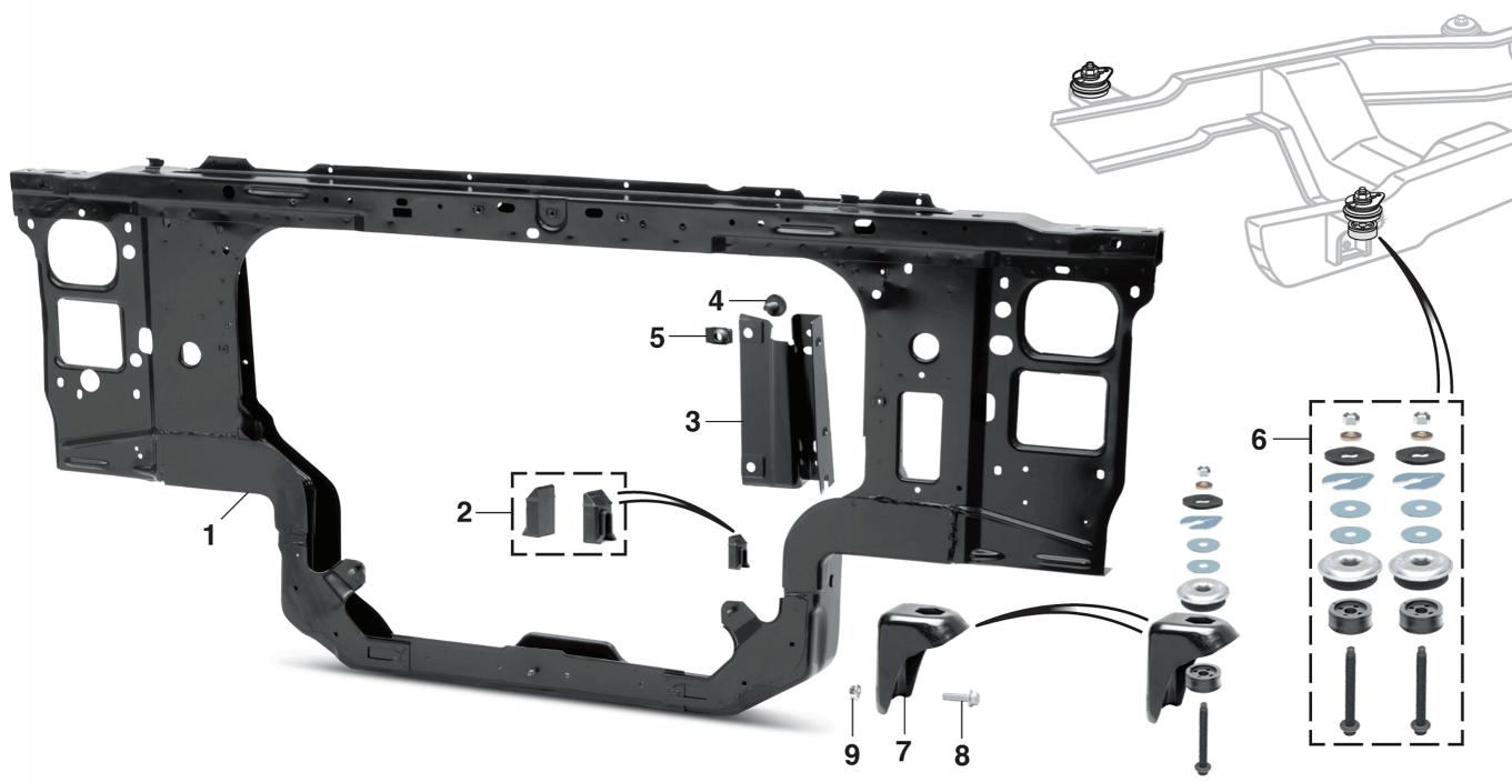 7 3l Diesel Radiator Core Support