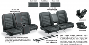 Front Bucket Seat Set & Center Console