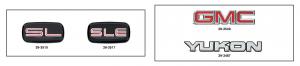 Yukon and Yukon XL Emblems