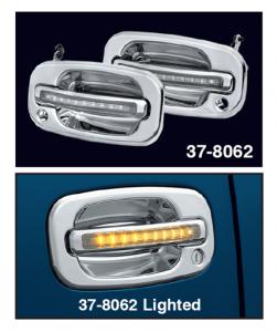 LED Chrome Outside Door Handle Sets