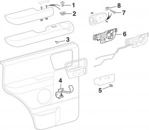 Rear Door Panel Components