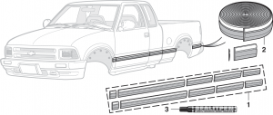 Pre-Cut Body Side Molding Sets and Side Molding
