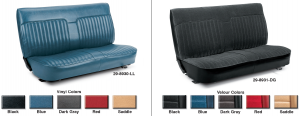 Vinyl and Velour Front Bench Seat Reupholstery Kits ... A Perfect Fit in Your Truck