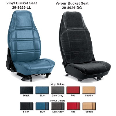 Vinyl and Velour Bucket Seat Reupholstery Kits ... For Comfort and Style