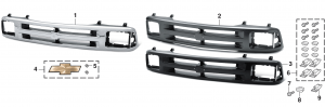 Grille and Components with Sealed Beam Headlights for Chevrolet