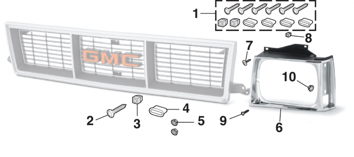 Grille Components for GMC