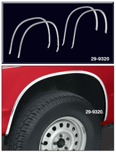 OE Style Aluminum Wheel Arch Molding Kit ... Quick and Easy Replacement