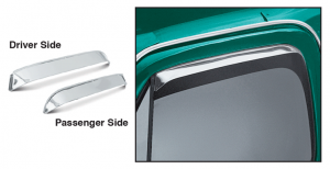 Front Stainless Steel Window Visor Set Lets Fresh Air In and Keeps Rain Out