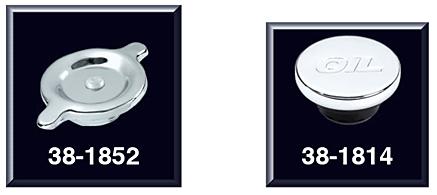 Chrome Oil Caps for Original Valve Covers