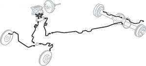 Pre-Bent Stainless Steel  Brake Line Kits
