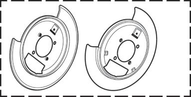 Rear Disc Brake Shield Set
