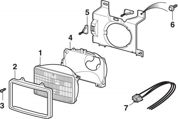 Headlight Components - Sealed Beam