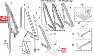1973-91 Vent Window Components