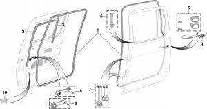 Rear Door Components - Crew Cab