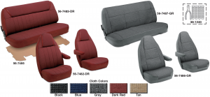 Cloth Bucket Seat Reupholstery Kits