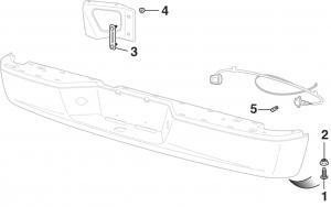Rear Step Bumper Components